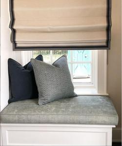 Roman shades pillows and cushion