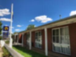A photograh of the front of Jollyswagman Motor Inn