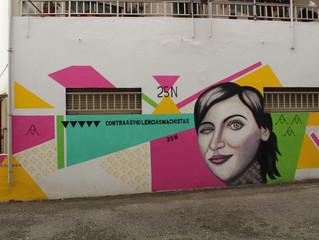 Mural Anónimas en Tomiño