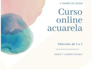 Curso onlinede Acuarela