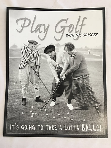 Laser Crafted Metal Golf Poster