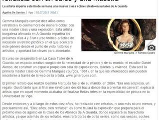 Gemma Marqués en El Faro de Vigo