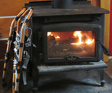 Huts, lodge, day skiers cabin all keep the fires going