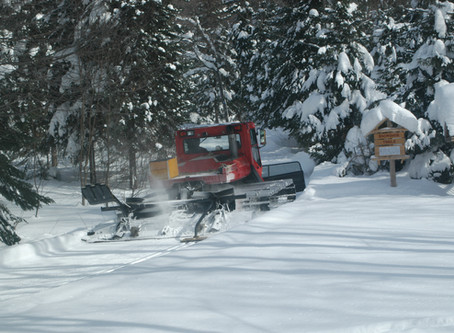 It takes 8 hours and 2 groomers to prepare the Stokely Ski & Skate Trails
