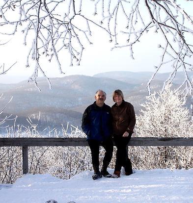 Gaylen & Sue Byker at King Mountain Overlook