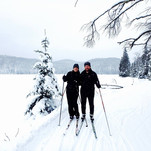 Lake skiing