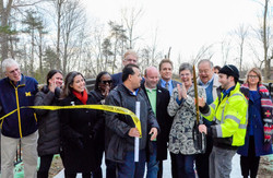 New boardwalk ribbon cutting
