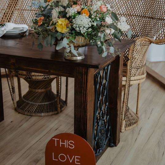 Photographer: @emjcrockett   Styled By: @emjcrockett + @ceciliadenisephoto  Venue: @arborvenues @agathico  Florist: @moonrisefloraldesign  Signage: @sincerelymelissaco  Rentals: @little.goodies.boutique