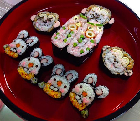 Decomaki-Sushi Monkey Rabbit