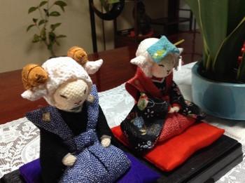 生徒さんからプレゼントして頂いたちりめんの羊 大阪 泉佐野のデコ巻き寿司  うずまきこ 古民家つばめ教室