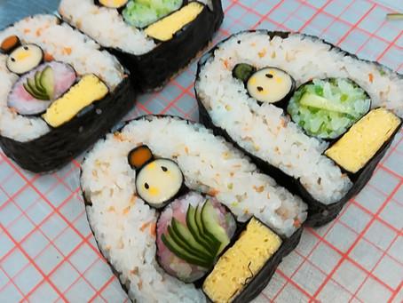 佐野公民館 お雛様デコ巻き寿司