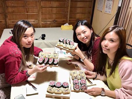 海外から デコ巻き寿司体験