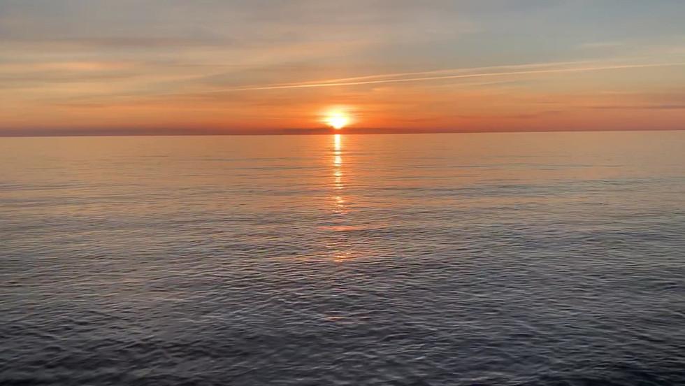 Sonnenuntergang am Strand von Rehbergort