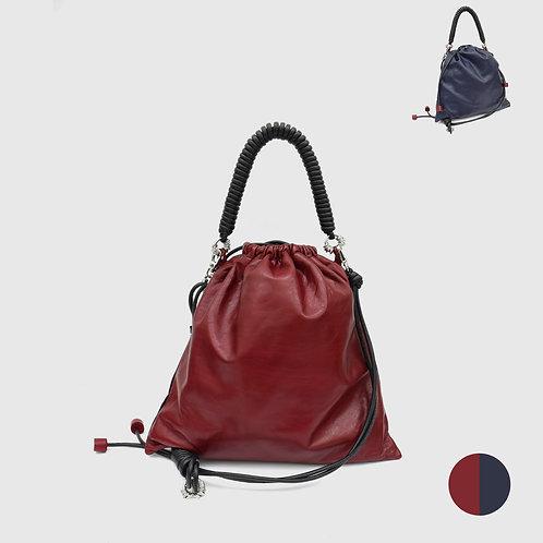 Pea Bag Duo Color - burgundy / Navy
