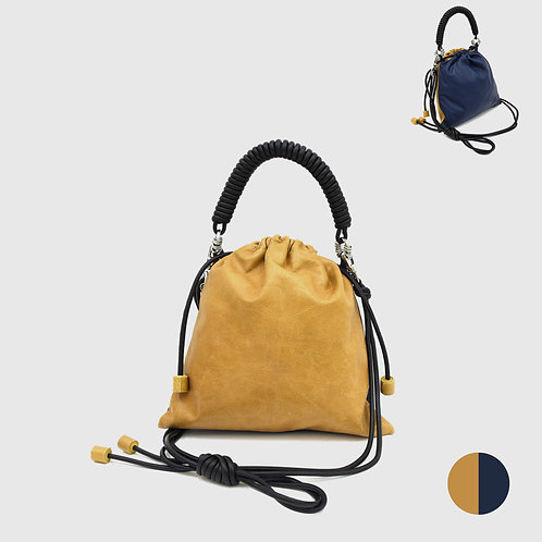 Pea Bag Duo Color - Camel / Navy