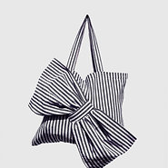 Lima Bag - Black Stripes