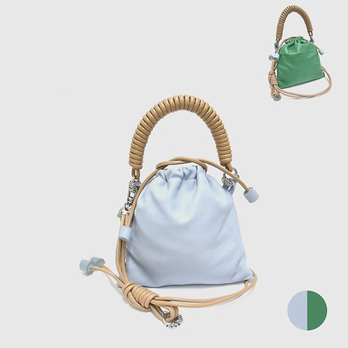 Pea Bag Duo Color - Blue Gray / Jade