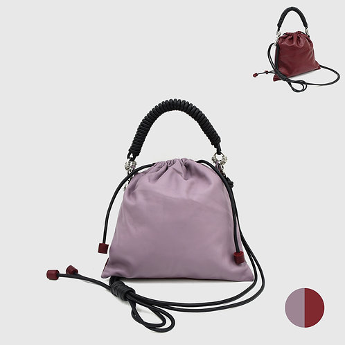 Pea Bag Duo Color - Pastel Purple / Burgundy