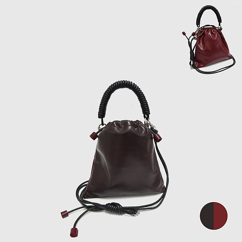 Pea Bag Duo Color - Chocolate / Burgundy