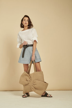 Oeillet Shorts - Denim