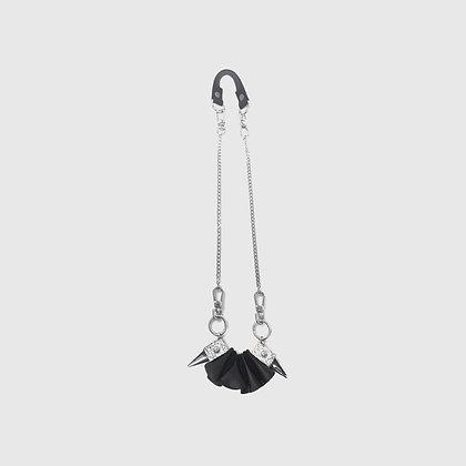 Blaar Necklace / Bracelet - Cracked White /Black