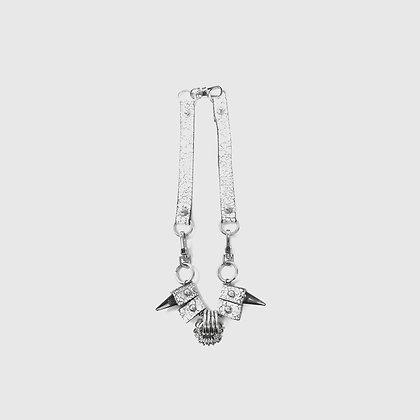 Witi Necklace / Bracelet - Cracked White