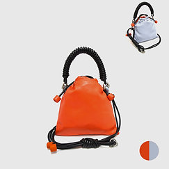 Pea Bag Duo Color - Pop Orange / Blue Gray