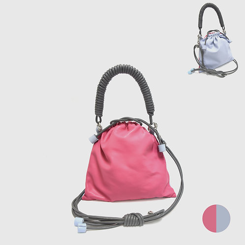 Pea Bag Duo Color - Hot Pink / Blue Gray
