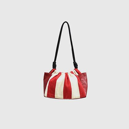 Pumkin Bag - Red Stiped
