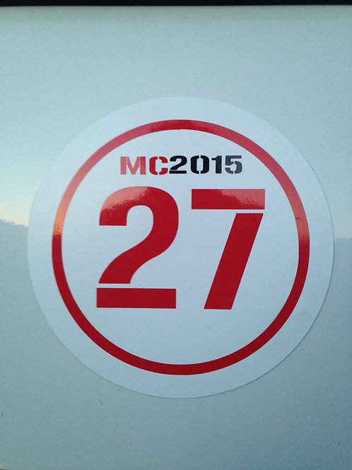 Magnetic Number Plate - 2 Color