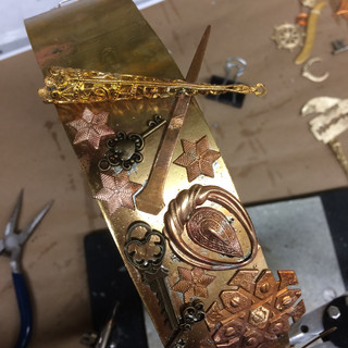 Process shot of the soldered crown.