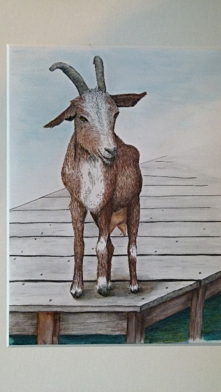 Goat on the Dock-$200 unframed