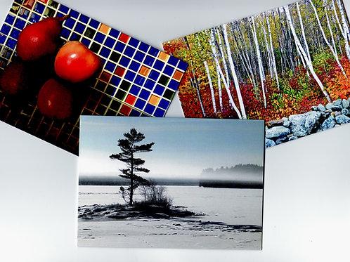 Set of three photo cards
