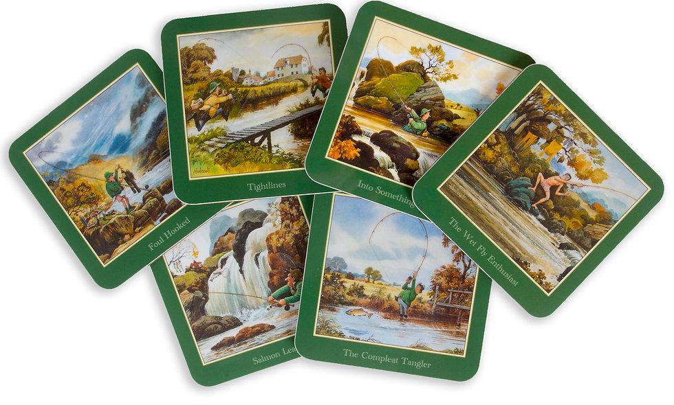 6 Fishing Coasters