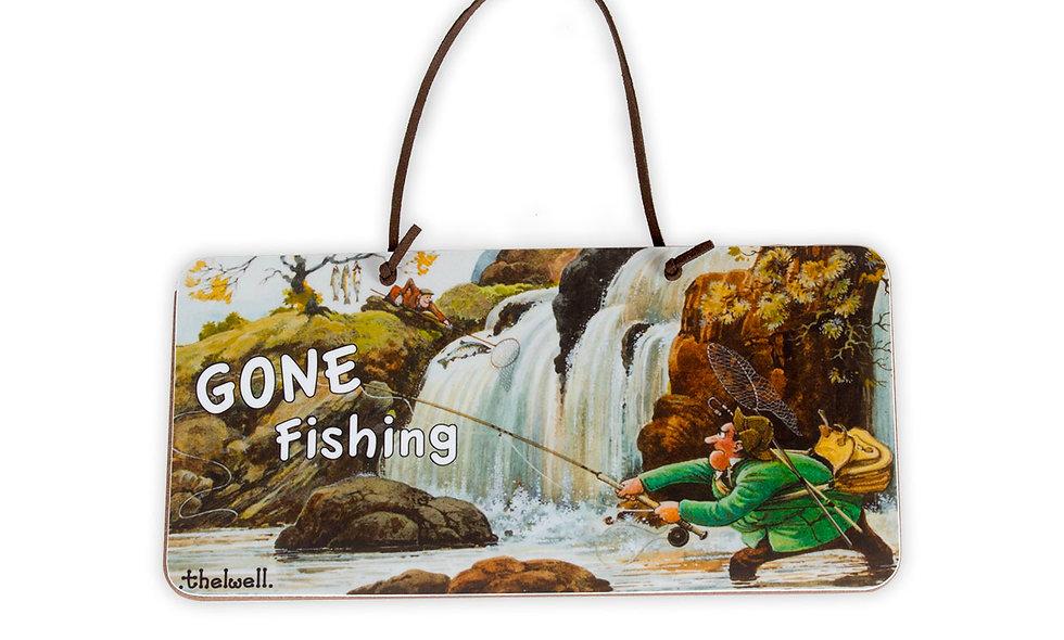 Gone Fishing Door Sign