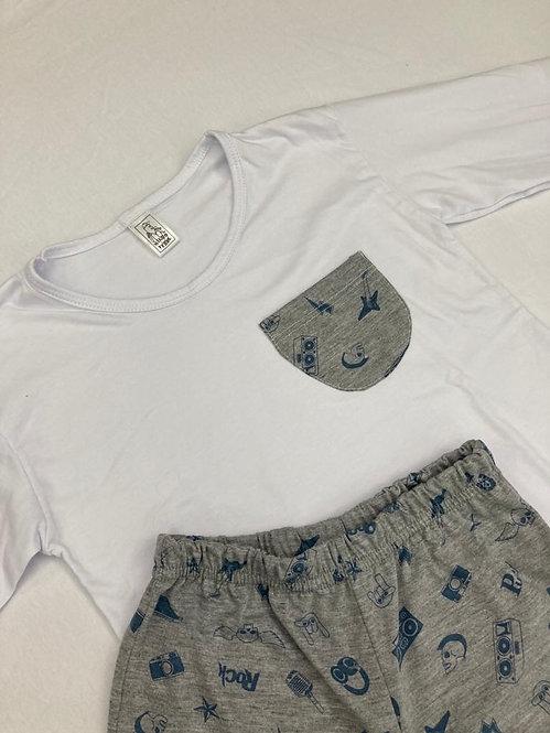 Pijama Malha Rock