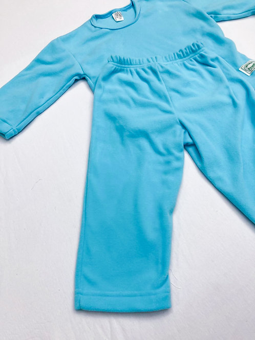 Pijama Fleece Azul Claro
