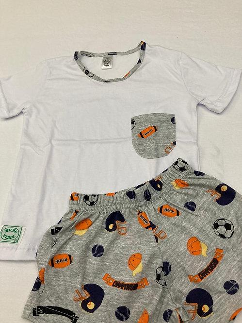 Pijama Curto Futebol Americano