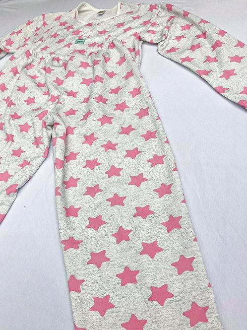 Pijama Flanela Estrela Rosa