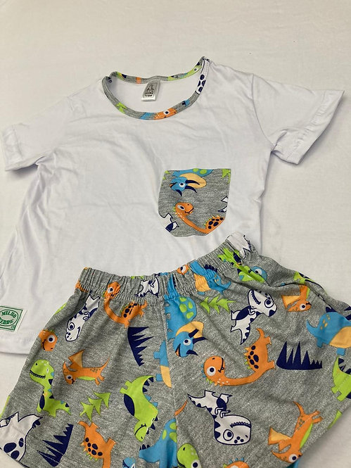 Pijama Curto Dinossauro Colorido