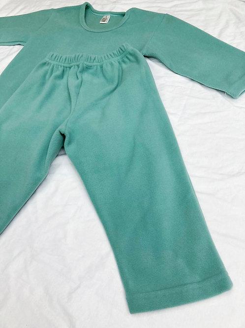 Pijama Fleece Verde
