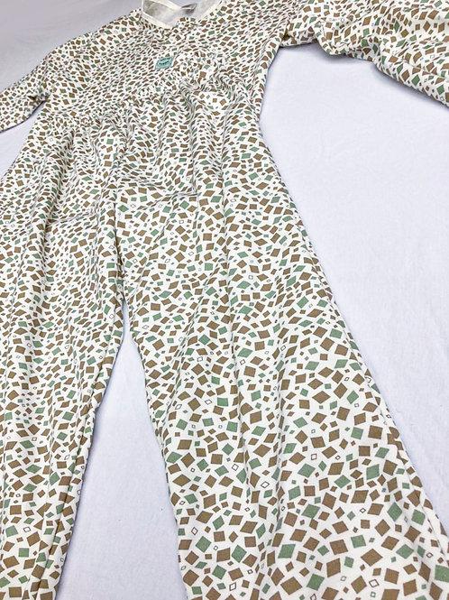 Pijama Flanela Geométrico Verde