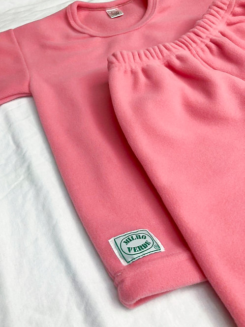 Pijama Fleece Rosa