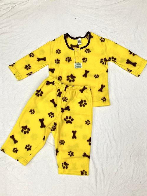 Pijama Soft Pata Amarela
