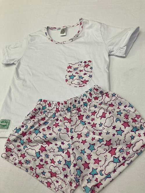 Pijama Curto Estrelas