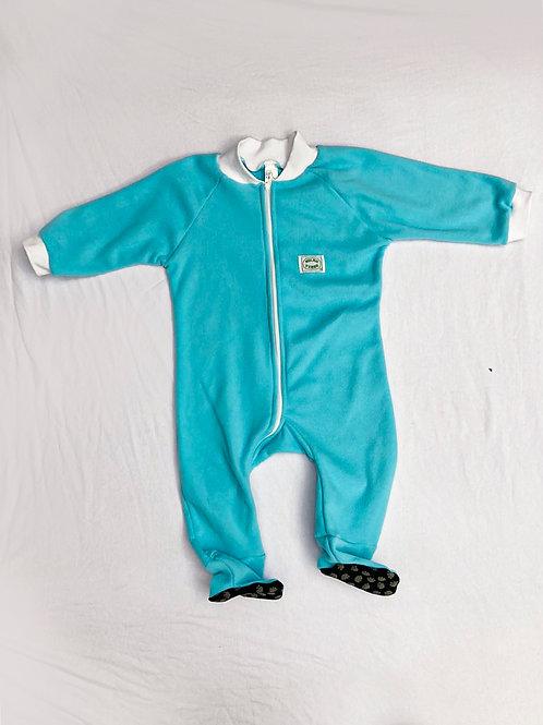 Pijama Macacão Flanela Azul