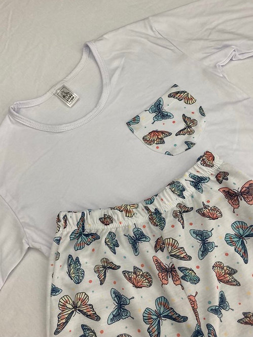 Pijama Malha Borboleta