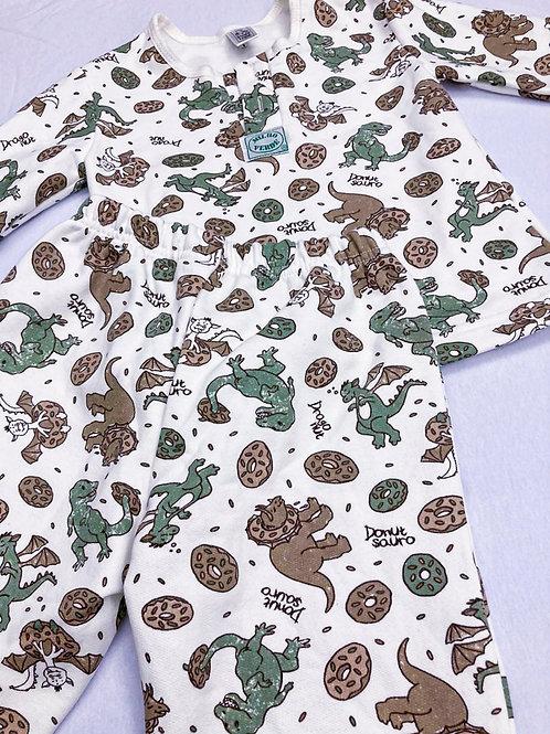 Pijama Flanela Dinossauro Donuts