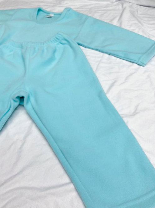 Pijama Fleece Azul