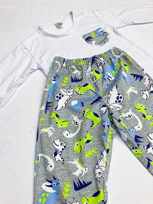 Pijama Malha Dinossauro